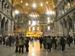 Inside the magnificent Hagia Sophia. First a cathedral, then a mosque.