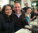 Dinner at Antiocha -- with Andrew Tabler, a Syria expert at The Washington Institute for Near East Policy, and Beth Dickinson, a reporter for The National.