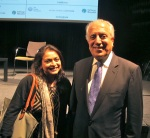 With Zalmay Khalilzad, the former U.S. ambassador to Iraq and Afghanistan, at an event at the security seminar.
