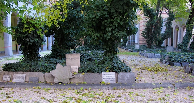 The memorial garden at the Dohany Street Synagogue where Jews who perished in the ghetto were buried in mass graves.