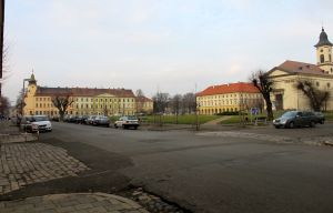 The main square in Terezin.