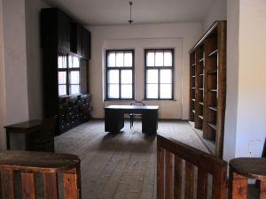 The Nazi commandant's office.