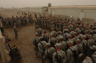 The last day of a 12-month deployment in Iraq for the 1st Battalion, 121st Infantry Regiment of the Georgia Army National Guard's 48th Infantry Brigade. The long journey home started with an incredible thunderstorm over Baghdad.