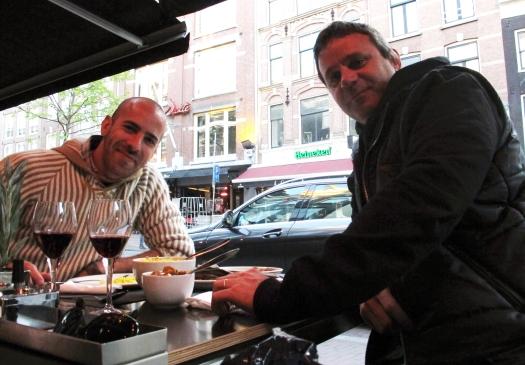 Ezequeil Zeff (left) and Lautaro Rivas of Buenos Aires.
