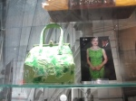 "The bag Madonna took with her to the premiere of ""Evita!"""