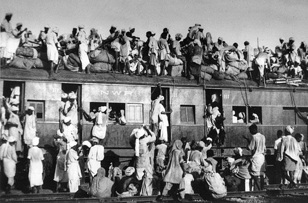 Independence turned bloody as uprooted Hindus, Muslims and Sikhs crossed borders.