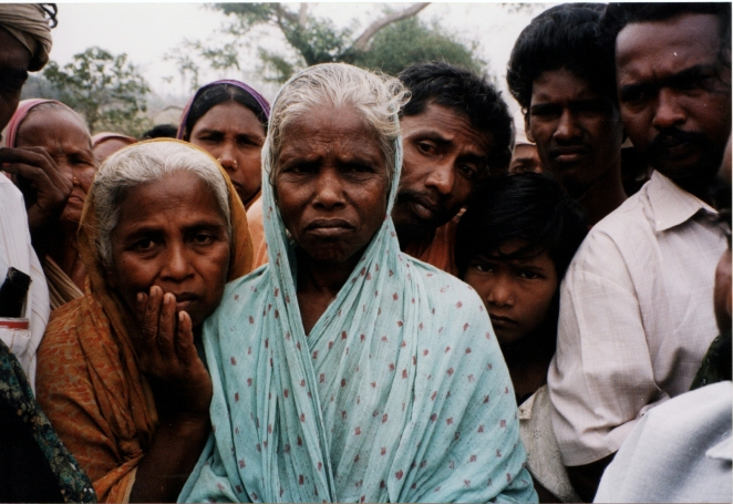 "People lost everything they had in Ersama, Orissa in the 1999 ""super-cyclone."""