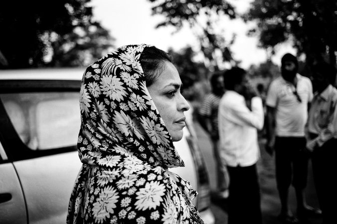 Me, reporting in Maharashtra. Vivek Singh, the photographer on the story, took this in Nawargaon.