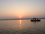 Sunrise over the Ganges.