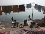 Washing clothes on the Ganges.
