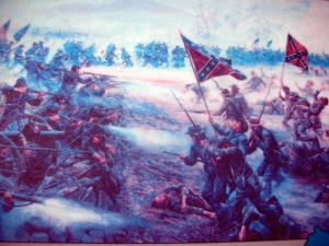 Civil War depiction at Gettysburg National Military Park.