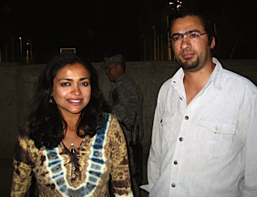 Mike and me in Baghdad in early April, 2006. He believed in love. I wonder if he still does.
