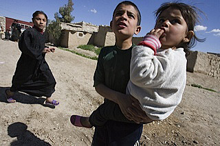 Yezedi kids in Baronah, a village near the Sinjar Mountains.