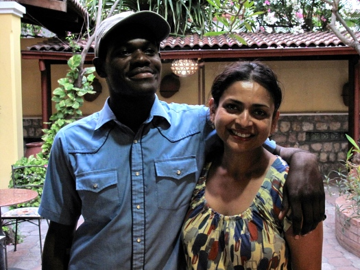 Mariot and me in May 2010 in Port-au-Prince.