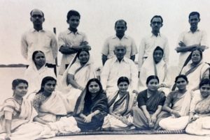 My father's family. My father is on the last row, far right; my uncle is second from left.
